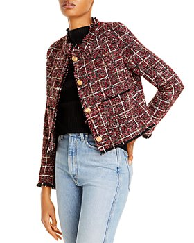 AQUA - Cropped Tweed Blazer