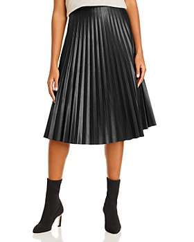 AQUA - Pleated Midi Skirt
