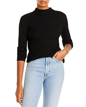 AQUA - Mesh Trim Mock Neck Sweater - 100% Exclusive