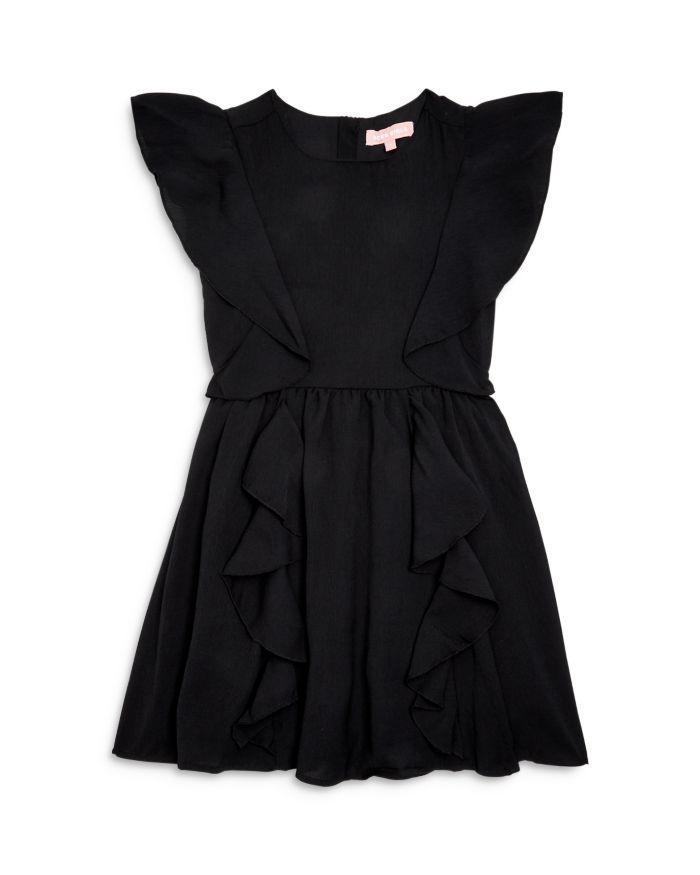 BCBG Girls' Ruffled Crepe Dress - Big Kid    Bloomingdale's