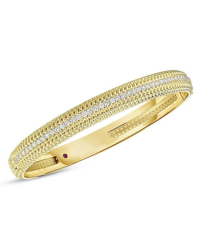 Roberto Coin - 18K Yellow Gold Opera Diamond Bangle Bracelet
