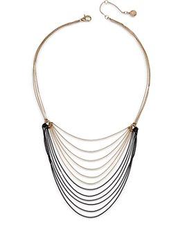 "ALLSAINTS - Two Tone Draped Chain Necklace, 16"""
