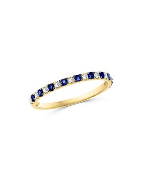 Bloomingdale's - Blue Sapphire & Diamond Stacking Ring in 14K Yellow Gold - 100% Exclusive