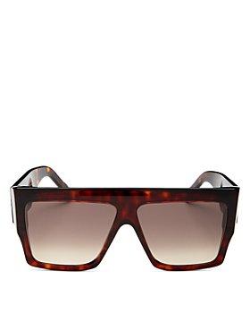 CELINE - Unisex Thelios Flat Top Square Sunglasses, 60mm