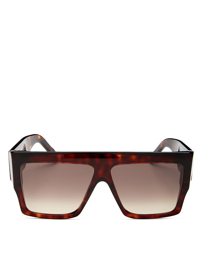 CELINE - Unisex Thelios Flat Top Square Sunglasses, 60mm