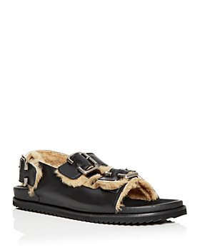 Freda Salvador - Women's Piper Shearling Slingback Sandals