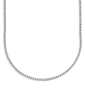 Moon & Meadow - Diamond Tennis Necklace in 14K White Gold, 3.96 ct. t.w. - 100% Exclusive