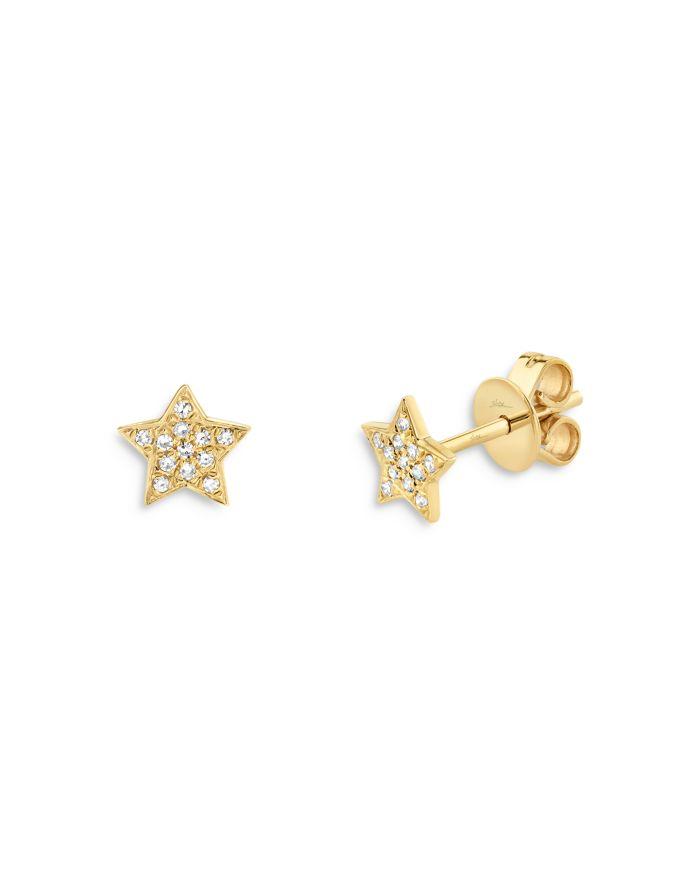 Moon & Meadow 14K Yellow Gold Diamond Star Stud Earrings - 100% Exclusive    Bloomingdale's