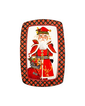 Mackenzie-Childs - Santa Nutcracker Cookie Plate