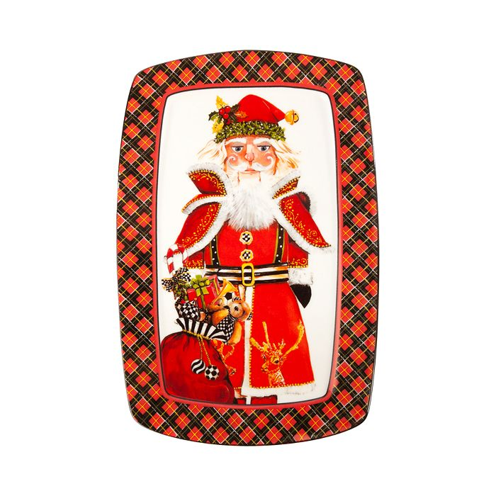 Mackenzie-Childs - Santa Nutcracker Cookie Plate