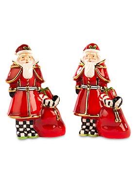 Mackenzie-Childs - Santa Salt & Pepper Set