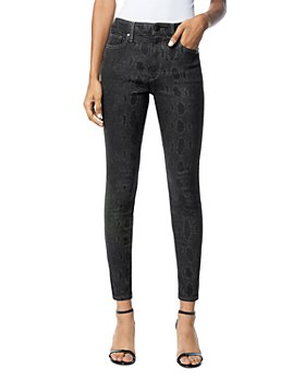 Joe's Jeans - The Charlie Ankle Skinny Jeans in Black Snake