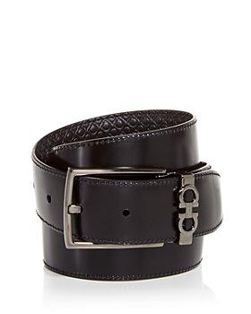 Salvatore Ferragamo - Men's Gancini Embossed Reversible Leather Belt