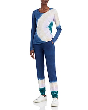 Monrow - Long Sleeve Tie-Dye Tee & Jogger Pants