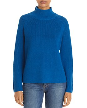 Eileen Fisher - Ribbed Merino Wool Turtleneck Sweater