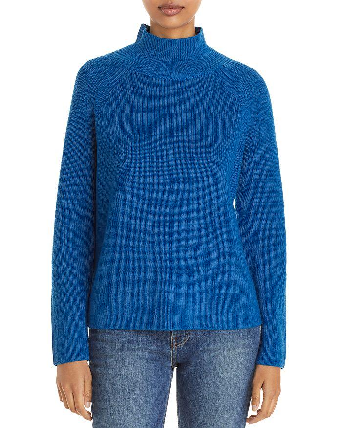 Eileen Fisher - Ribbed Merino Wool Turtleneck Sweater