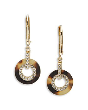 Ralph Lauren - Circle Link Pave Drop Earrings