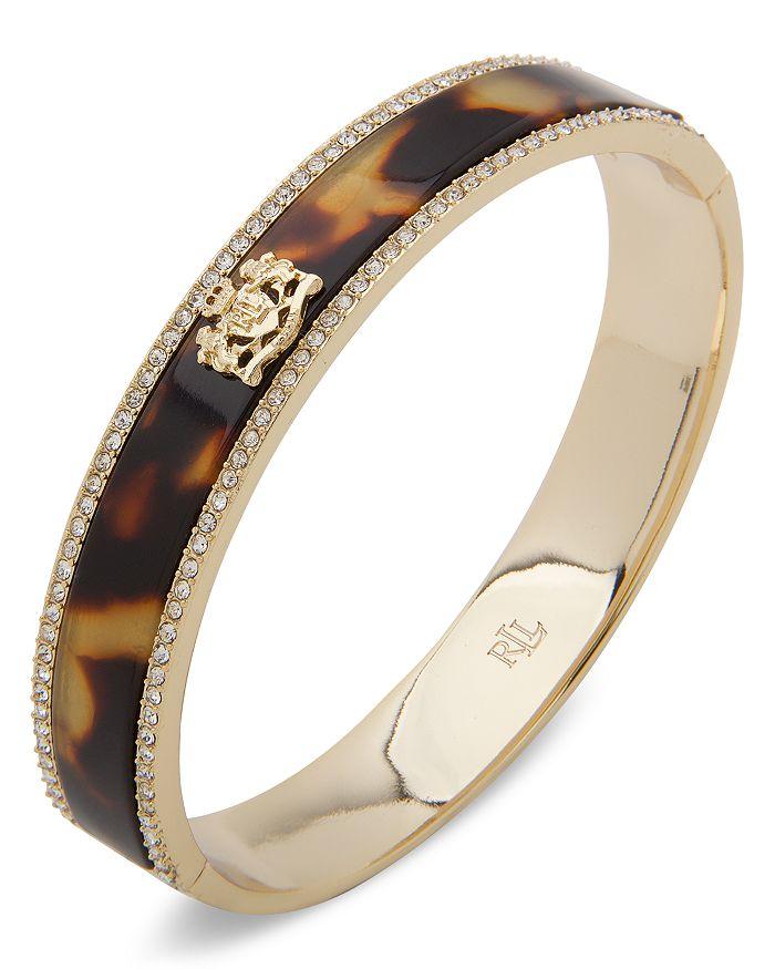 Ralph Lauren - Crest Pave Edge Bangle Bracelet