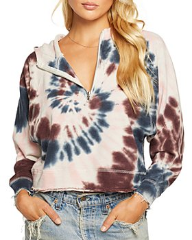 CHASER - Distressed Tie Dyed Hoodie
