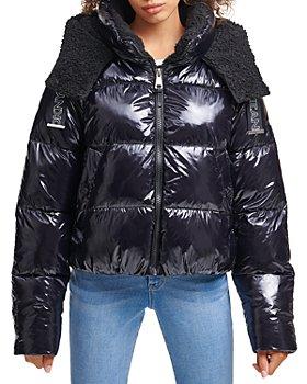 DKNY - Coated Hooded Puffer Coat