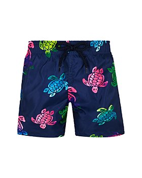 Vilebrequin - Ronde des Tortues Aquarelle Turtle Print Swim Trunks