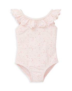 Little Me - Girls' Ruffle Eyelet Swimsuit - Baby