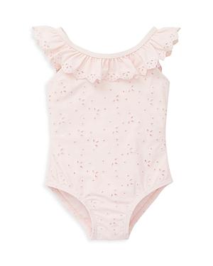 Little Me Girls' Ruffle Eyelet Swimsuit - Baby