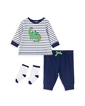 Little Me - Boys' Dino Sweatshirt, Jogger Pants & Socks Set - Baby
