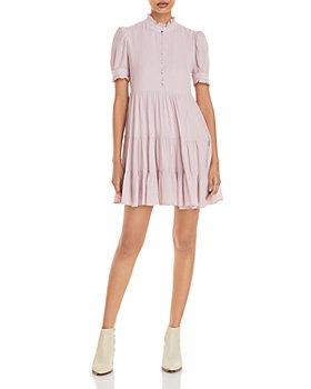 AQUA - Striped Tiered Mini Dress - 100% Exclusive