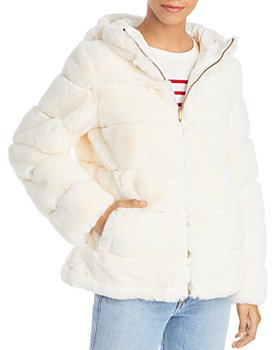 Via Spiga - Reversible Hooded Faux Fur Jacket