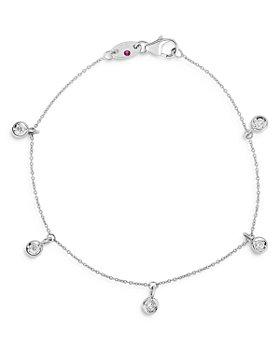 Roberto Coin - 18K White Gold Diamond Charm Bracelet