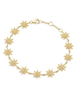 18K Yellow Gold Galaxia Diamond Star Bracelet
