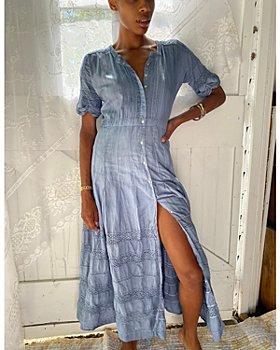 LoveShackFancy - Edie Denim Maxi Dress