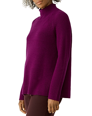 Eileen Fisher RIBBED MERINO WOOL TURTLENECK SWEATER