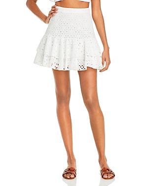 Natalie Ruffled Eyelet Mini Skirt