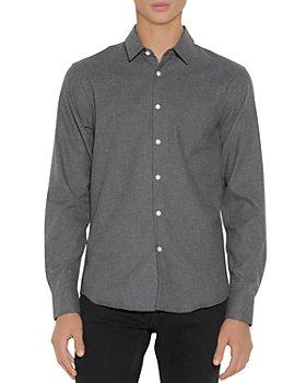Sandro - Cotton Flecked Flannel Shirt
