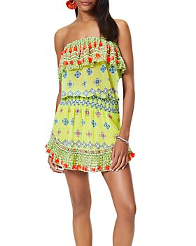 Ramy Brook - Mira Strapless Printed Cover Up Dress