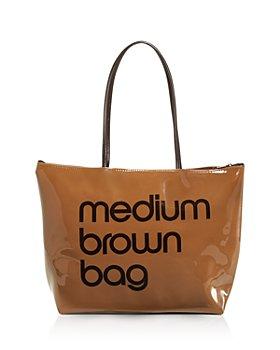 Bloomingdale's - Bloomingdale's Zip Top Medium Brown Bag - 100% Exclusive