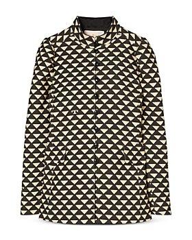 Tory Burch - Triangle Print Twill Jacket