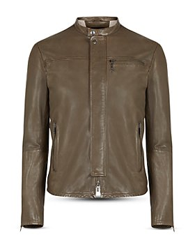 John Varvatos Star USA - Hector Slim Fit Leather Racer Jacket
