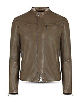 John Varvatos Star USA - Hector Slim Fit Leather Racer Jacket