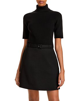 Theory - Belted Turtleneck Dress