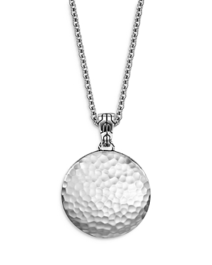 John Hardy Sterling Silver Dot Hammered Disc Pendant Necklace, 22-24