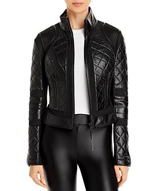 Leather & Mesh Moto Jacket
