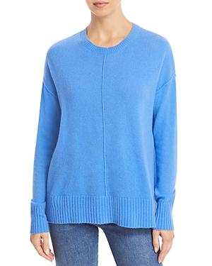 High/Low Cashmere Crewneck Sweater