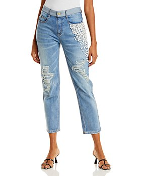 Hellessy - Yang Embellished Cropped Jeans in Medium Wash