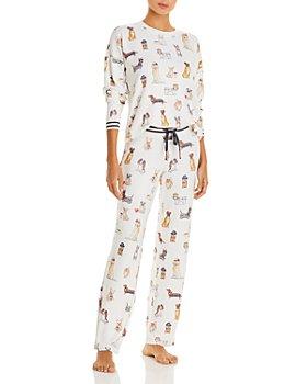 PJ Salvage - Dog Print Pajama Top & Pajama Pants