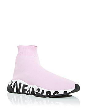 Balenciaga - Women's Speed Graffiti Knit High Top Sneaker