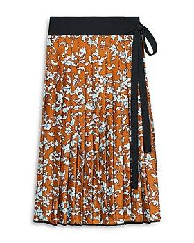 Tory Burch - Printed Pleated Silk Skirt
