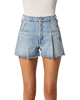 Hudson - Paberbag Denim Shorts in Mirrors